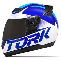 Capacete Moto Pro Tork Evolution G7 Azul Brilhante + Viseira Fumê Azul - Azul Claro