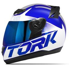 Capacete Moto Pro Tork Evolution G7 Azul Brilhante + Viseira Iridium Azul - Cinza