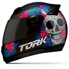 Capacete Moto Pro Tork Evolution G7 Mexican Skull Brilhante + Viseira Fumê