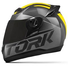 Capacete Moto Pro Tork Evolution G7 Preto Brilhante + Viseira Fumê Preto - Amarelo
