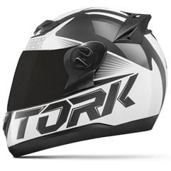 Capacete Moto Pro Tork Evolution G7 Preto Brilhante + Viseira Fumê Preto - Branco