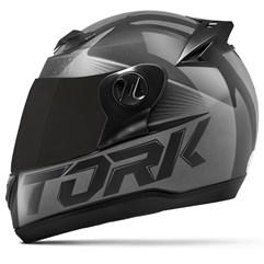 Capacete Moto Pro Tork Evolution G7 Preto Brilhante + Viseira Fumê Preto - Cinza