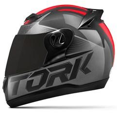 Capacete Moto Pro Tork Evolution G7 Preto Brilhante + Viseira Fumê Preto - Vermelho