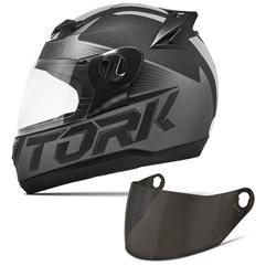 Capacete Moto Pro Tork Evolution G7 Preto Fosco + Viseira Fumê Preto - Cinza