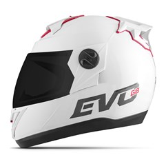 Capacete Moto Pro Tork Evolution G8 Evo Solid Viseira Fumê Branco
