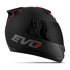 Capacete Moto Pro Tork Evolution G8 Evo Solid Viseira Fumê Preto Fosco