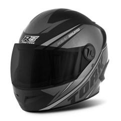Capacete Moto Pro Tork R8 Narigueira + Viseira Fumê Prata