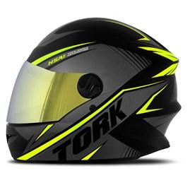 Capacete Moto Pro Tork R8 Viseira Dourada