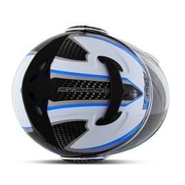 Capacete Moto Robocop Escamoteável Pro Tork V-Pro Jet 2 Branco e Azul