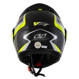 Capacete Moto Robocop Escamoteável Pro Tork V-Pro Jet 2 Preto e Amarelo