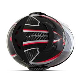Capacete Moto Robocop Escamoteável Pro Tork V-Pro Jet 2 Preto/Vermelho