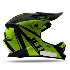 Capacete Motocross Infantil Jett Evolution Amarelo