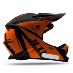 Capacete Motocross Infantil Jett Evolution Laranja