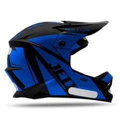 Capacete Motocross Infantil Jett Evolution Miami Blue