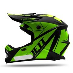 Capacete Motocross Infantil Jett Evolution Verde