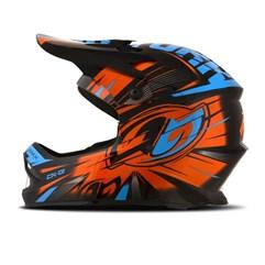 Capacete Motocross Infantil Pro Tork CK-01 Preto/Laranja