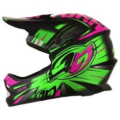 Capacete Motocross Infantil Pro Tork CK-01 Preto/Verde