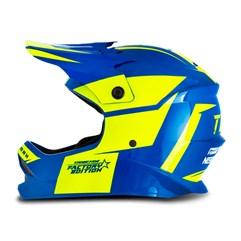 Capacete Motocross Infantil Pro Tork Factory Edition Azul e Amarelo