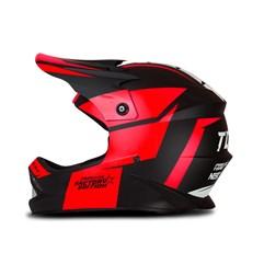 Capacete Motocross Infantil Pro Tork Factory Edition Neon Vermelho