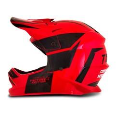Capacete Motocross Infantil Pro Tork Factory Edition Preto e Vermelho