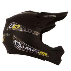 Capacete Motocross Liberty MX Pro + Óculos 788 Preto Pro Tork