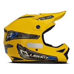 Capacete Motocross Off Road Pro Tork Liberty MX Pro Amarelo