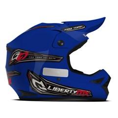 Capacete Motocross Off Road Pro Tork Liberty MX Pro Azul