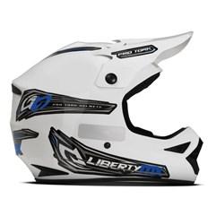 Capacete Motocross Off Road Pro Tork Liberty MX Pro Branco