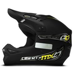 Capacete Motocross Off Road Pro Tork Liberty MX Pro Preto Fosco