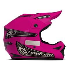 Capacete Motocross Off Road Pro Tork Liberty MX Pro Rosa