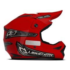 Capacete Motocross Off Road Pro Tork Liberty MX Pro Vermelho