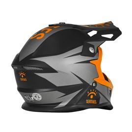 Capacete Motocross Pro Tork Fast Rally dos Sertões Fosco Grafite - Laranja