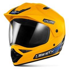 Capacete Motocross Pro Tork Liberty Mx Vision Amarelo
