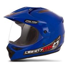 Capacete Motocross Pro Tork Liberty Mx Vision Azul