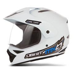 Capacete Motocross Pro Tork Liberty Mx Vision Branco