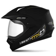 Capacete Motocross Pro Tork Liberty Mx Vision Preto Fosco
