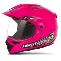 Capacete Motocross Pro Tork Liberty Mx Vision Rosa