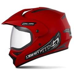 Capacete Motocross Pro Tork Liberty Mx Vision Vermelho