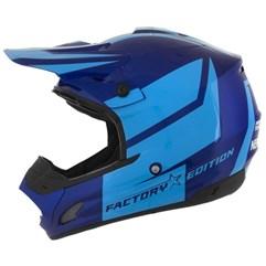 Capacete Motocross Pro Tork TH1 Factory Edition Azul/Azul Claro