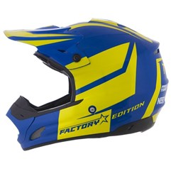 Capacete Motocross Pro Tork TH1 Factory Edition Azul e Amarelo