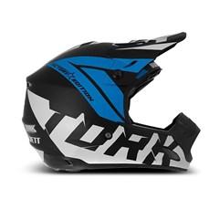 Capacete Motocross Pro Tork TH1 Factory Edition Neon Azul Miami