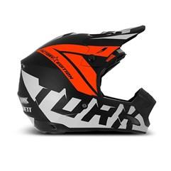 Capacete Motocross Pro Tork TH1 Factory Edition Neon Laranja