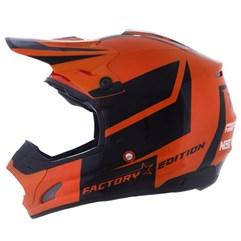 Capacete Motocross Pro Tork TH1 Factory Edition Preto/Laranja