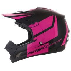 Capacete Motocross Pro Tork TH1 Factory Edition Preto/Rosa