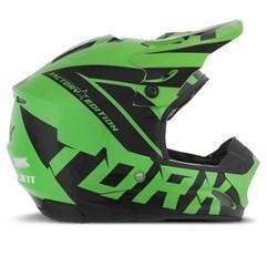 Capacete Motocross Pro Tork TH1 Factory Edition Preto/Verde
