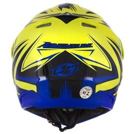 Capacete Motocross Pro Tork TH1 Vision Adventure Azul/Amarelo