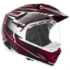 Capacete Motocross Pro Tork TH1 Vision Adventure Vermelho/Branco