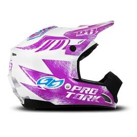 Capacete Motocross TH1 Insane 5 Branco/Lilás