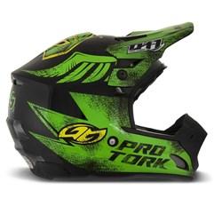 Capacete Motocross TH1 Insane 5 Preto e Verde