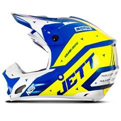 Capacete Motocross TH1 Jett Evolution 2 2019 Azul/Amarelo
